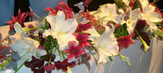 カサブランカのウェディング装花
