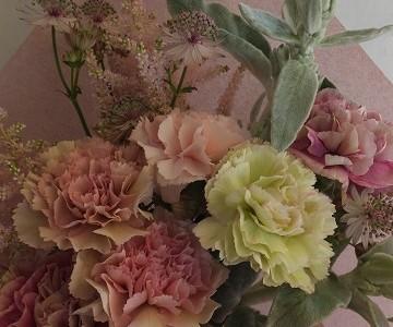 母の日の花束(カーネーション・アンティークピンクミックス)